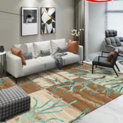 Mẫu thảm đẹp Taurus với đường nét mềm mại cuốn hút tạo chiều sâu 3D cho không gian