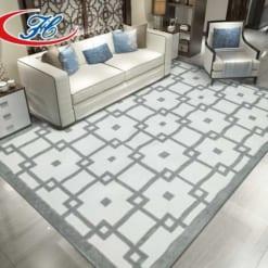 Thảm trải sàn Ordu vói những khối hình học được dệt nổi trên thảm