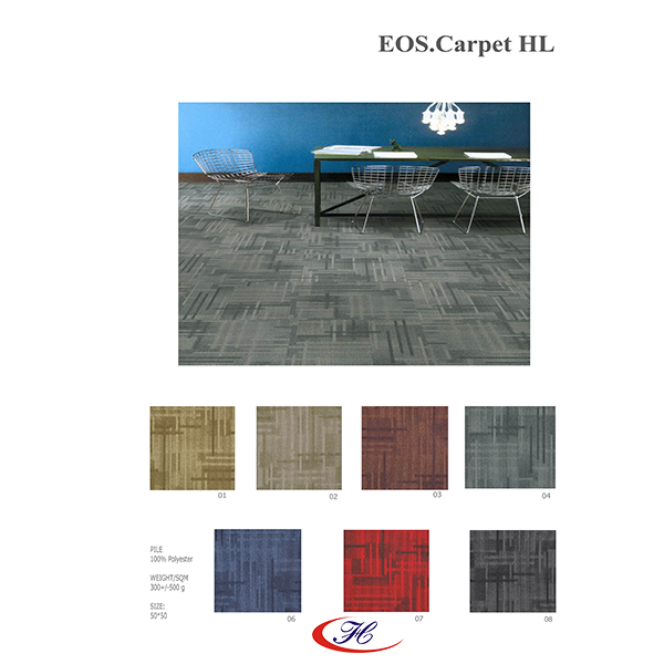 Dòng thảm văn phòng EOS có 7 màu đa dạng