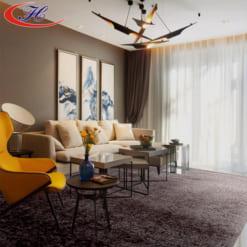 Tông màu và chất liệu thảm trải sàn Mainz 04 đem lại vẻ sang trọng cho căn phòng