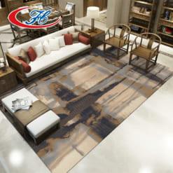 Thảm trải sàn Taurus với đường nét mềm mại cuốn hút tạo chiều sâu 3D cho không gian